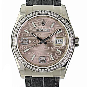 Rolex Datejust white gold factory diamond 36mm 2020 #367