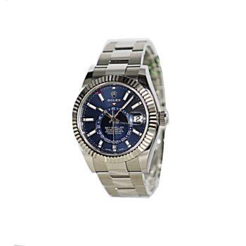 Rolex sky-Dweller Steel Blue dial 2020 B&P sold #388