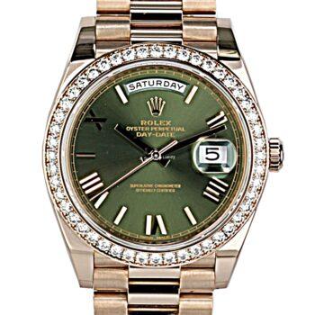 Rolex Day - Date 40 Rose gold factory diamond 2018 B@p # 422