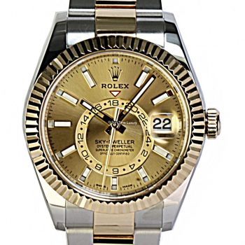 Rolex sky-dweller steel and gold # 441